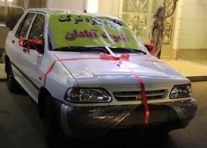 اهدای خودروی پراید توسط شرکت روغن موتور الموت در اردبیل