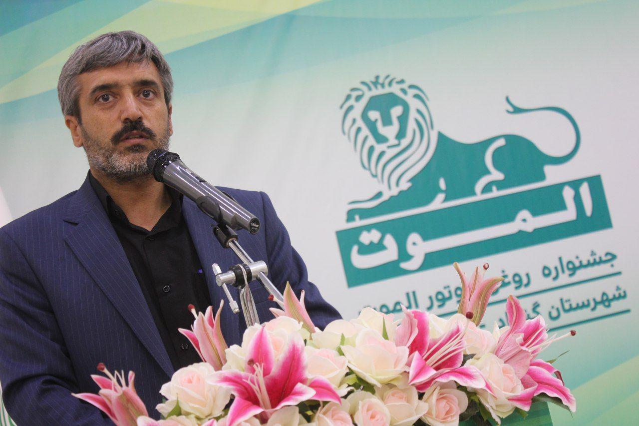 حضور جناب آقای ایزدی، رییس محترم صنعت و معدن شهرستان گناباد در جشنواره روغن موتور الموت